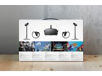 Oculus Rift 2.0. With motion controllers and 2 sensors.