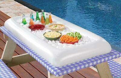 Bar Drain Tray (Inflatable Serving Salad Bar Tray Food Drink Holder - Party Cooler with Drain)