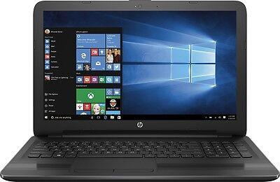 "New Sealed HP 15-ba009dx 15.6"" Laptop/AMD A6/4GB/500GB/HDMI/DVDRW/Win10/Black"