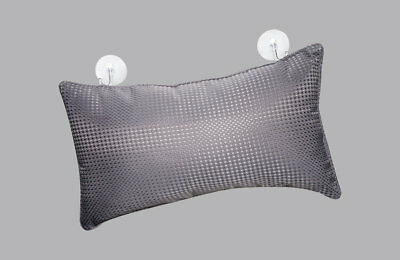 PREMIUM GREY SPA BATH NECK REST PILLOW SOFT CUSHIONED FEEL FOR EXTRA COMFORT