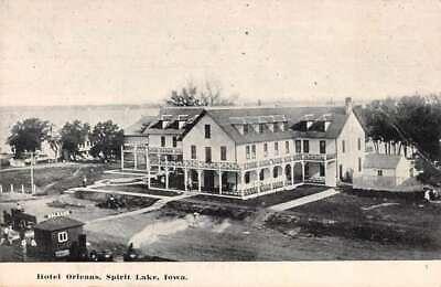 Spirit Lake Iowa Hotel Orleans Vintage Postcard AA19605