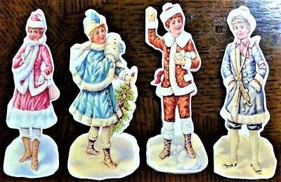 12 Victorian Era SNOW CHILDREN CHRISTMAS GIFT NOTE CARD s  MINT/Sealed Shackman