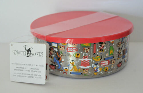 Disney Parks Mouseware Collection Mickey Nesting Bowl Set of 3 New with Tag