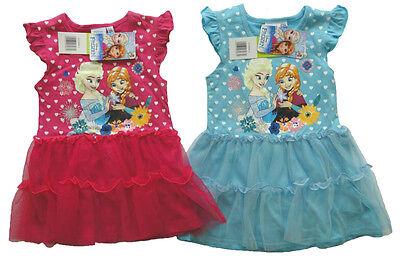 Disney Frozen Sommerkleid Eiskönigin Mädchen Kleid Anna Elsa Herzen Tüllkleid