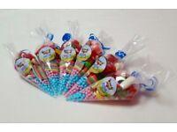 sweet cones for parties