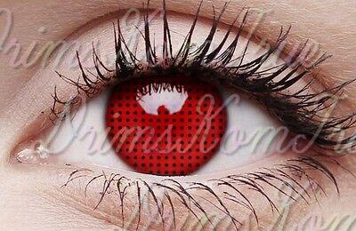 Kontaktlinse farbig Rot Netz Schirm Rot / verrückt,Cosplay,Halloween / 1 Jahr ()