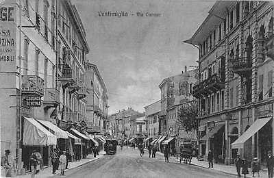Ventimiglia Italy Street Scene Antique Postcard J53773