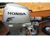 2008 Honda 8hp Short Shaft 4 stroke Outboard Engine