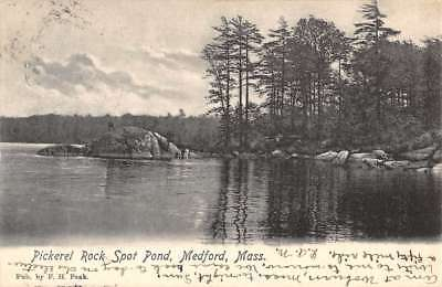 For sale Medford Massachusetts Pickerel Rock Spot Pond Antique Postcard K82469