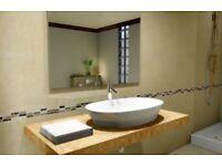 Choice Interiors - Bathroom floor and wall tiles.