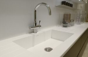 Corian solid surface counters