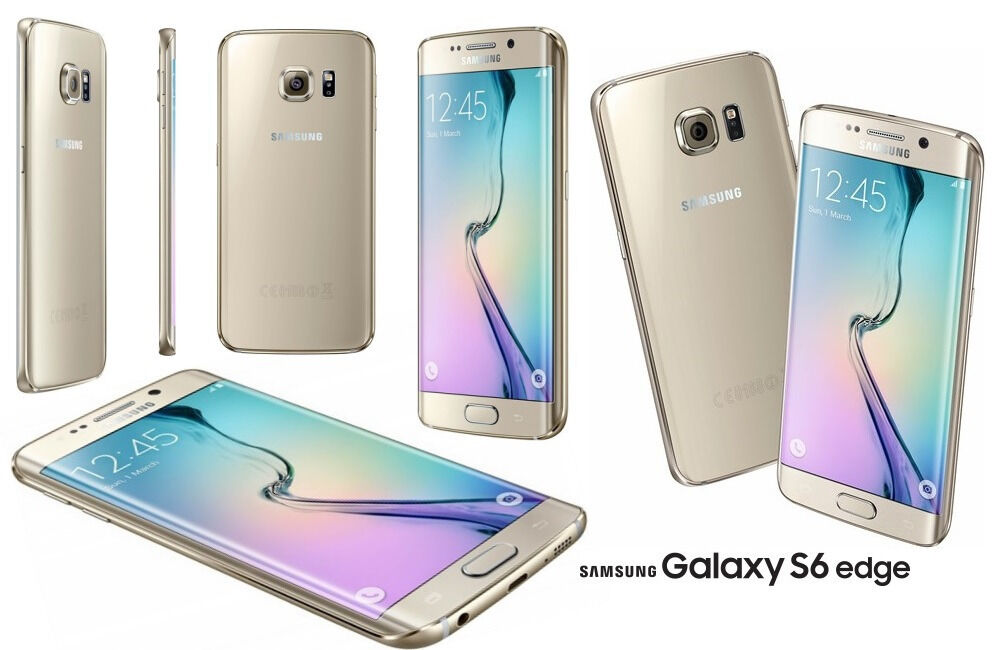 Samsung Galaxy S6 Edge Mobile Phone - GOLD - SIM FREE - Boxed - 32GB