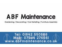 ABF Maintenance Handyman Services Thetford just £13.50 per hour