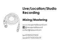 NewPortableSound - Live / Location / Studio Recording. Mixing / Mastering.