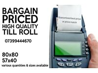 BARGAIN PRICED QUALITY TILL ROLL
