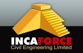 Vacancies for Groundworkers, Kerblayers, CPCS Dumper Drivers, CPCS Machine Drivers