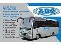 MINI COACH/MINIBUS HIRE WITH DRIVER 8-33 SEATERS-ABC MINI COACHES OF WOKINGHAM & READING 9888898