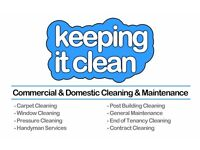 Part-time (initially) commercial cleaner: end of tenancy cleaning, common way, domestic, office, etc