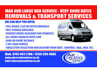 MAN AND LARGE VAN SERVICE - REMOVALS & TRANSPORT SERVICES