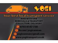 YOGI - MAN WITH BIG VAN / REMOVALS / TRANSPORT / LOCAL SERVICES FROM £15 BEST PRICE GUARANTEE