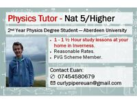 Physics Tutor for Nat 5/Higher - Inverness