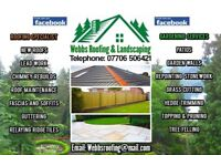 WEBBS ROOFING & LANDSCAPING, gardens, patios etc