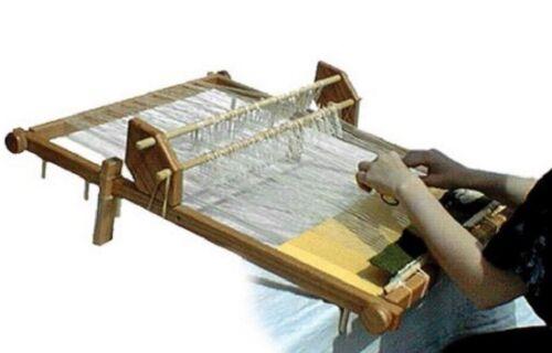Tapestry Tabletop Weaving Loom Wide Warping Oak Frame Craft Long Short Warp Rods