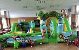 Bouncy castles and toddler play zone