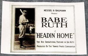 MOVIE POSTER: Headin' Home 1920 starring Babe Ruth
