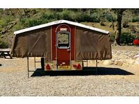 Vintage Dandy Trailer Tent - 4/5 berth. PVC brown beige fabric. Cooker/sink. Good condition.
