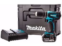 Makita DHP456SP1R Cordless 18 V Li-ion Combi Drill with MakPac Carry Case and 1 x 4 Ah Battery