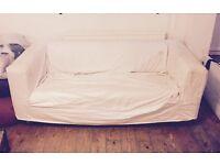 Free Off white 2 Seater Sofa