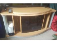 TV Unit with turntable and storage