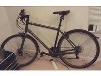 Hybrid Kona Bike (mudguards incorporated!) + 2 padlocks + new brand bike gloves + lights + pump