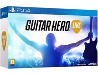 Guitar Hero Live w. Official Guitar Controller (PS4) + BRAND NEW!