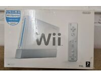 nintendo wii console complete boxed
