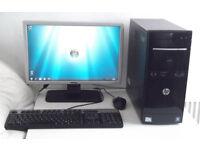 Gaming PC + GTX 560 + 11 Games (i5, Quad, Fortnite, GTA 5, Monitor) All In One, Desktop PC, Computer
