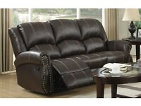 3 + 2 seater recliner set brown £500