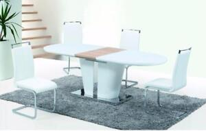 WHITE GLASS DINING SET ON SALE (ID-244)