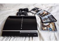 PS3 80gb Original Style with games - Perfect working condition