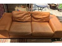 FREE Leather couch going to skip at weekend.