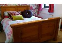 Handmade/solid pine double bed