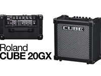 AMPLIFIER ROLAND CUBE 20GX + ORIGINAL BOX - ALMOST NEW GREAT FOR XMAS GIFT