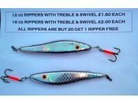 Boat Fishing Rippers/Jiggers/ Perks & Jig Heads