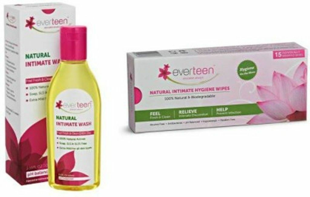 Combo Everteen Natural intimate wash + everteen natural inti