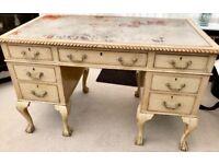 Desk antique vintage Chippendale 1920's writing desk