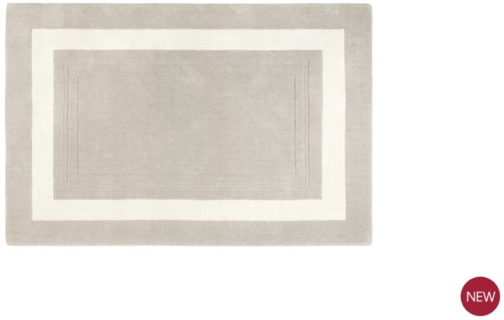 Luxurious Lewes Rug in Natural from Laura Ashely 140 x 200 cm