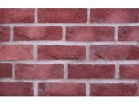Brick Slips - Red Square Edge