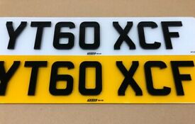 Pair Of (Front & Rear) 4D Black Gloss 3MM Road Legal Number Plates