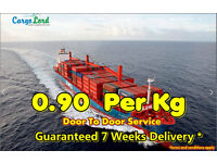 Cargo to Pakistan ,India and worldwide from 0.99p per kg